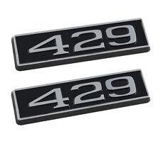 429 Ford Mustang 325 Engine Hood Scoop Emblems Badges Pair Black Amp Chrome Fits Mustang