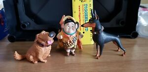 3 X Disney Pixar UP Dogs and Figure Bundle -Russel, Alpha Doberman & Dug Doug