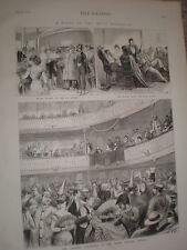 Carnival bal masque at the Tacon theatre Havana Cuba 1876 print ref V