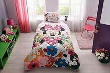 100%Cotton Girls Bedding Set Minnie Mouse Comforter Set Twin Size 3 Pieces Pink