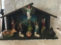 Vintage Mid-Century Nativity Crèche Made in Japan