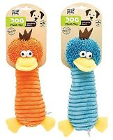Pets at Play Plush Dog Toy Squeaking Duck Great Fun Select Orange or Blue