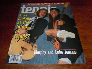 "VINTAGE JANUARY 1995 "" TENNIS "" MAGAZINE - MURPHY AND LUKE JENSEN COVER - MINT"
