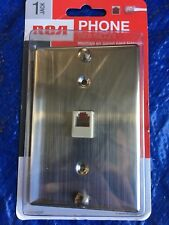 RCA TP251SSR Wall Phone Mount PLATE KIT Stainless NEW SEALED SINGLE JACK