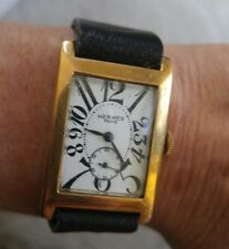 HERMÈS WATCH GOLD CROWN RUNS GREAT 1930's VERY RARE