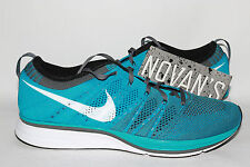 Nike Flyknit Trainer+ Neo Turquiose 532984-410 Sz10.5 Dark Grey Yeezy Racer Free