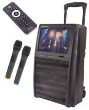 "IBIZA Sound ""Port-tft12"" batteria mobile Soundsystem KARAOKE CON 15"" Monitor TFT!"