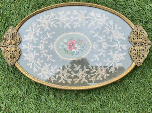 The Regent Of London Glass Tapestry Tray