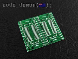 New TSSOP28/SSOP28/SOP28/SOIC28/SO28 to DIP28 Adapter Breakout PCB Board (x2)
