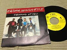 "EARTH WIND & FIRE SPANISH 7"" SINGLE SPAIN ONE SIDED - THINKING OF YOU - FUNK"