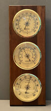 Vintage Springfield Instrument Co Barometer Thermometer Humidity Weather Meter