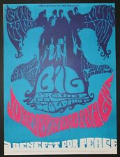 Janis Joplin Big Brother & The Holding Company Steve Miller Blues Band Poster