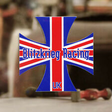 Blitzkrieg Racing Iron Cross Sticker Aufkleber Decal Käfer Bus Bug UK 70mm