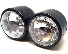 Motorbike Headlight Dominator Tracker Streetfighter Black Dual Twin HOMOLOGATED