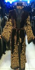 New open front  velvet abaya/islamic wear/saudi women dress.size 52.54.56.58
