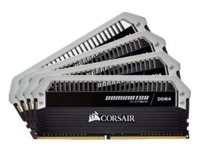 CORSAIR DOMINATOR PLATINUM 64GB (4 x 16GB) DDR4 DRAM 3200MHz C16 Memory Kit