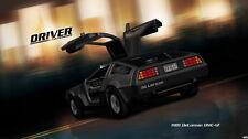 "073 DeLorean DMC 12 - 1981 Super Race Car Class Time Machine 42""x24"" Poster"