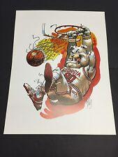 University Of Georgia Bulldogs Jack Davis Basketball Artwork UGA