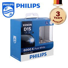 100% Authentic Philips Ultinon Xenon Headlight Bulb D1S 6000K 3-Year Warranty