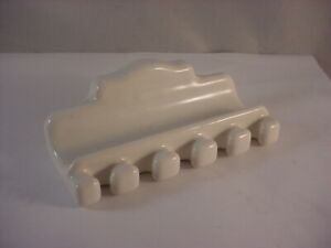 Vintage White Porcelain Wall Mount Toothbrush/Toothpaste Holder