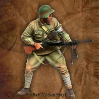 1/35 WW2 Chinese Soldier Resin Figure Unpainted Model Kits GK Unassembled