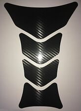 Universal Motorcycle Fuel Tank Pad Carbon Fiber Effect Protector Cover decal #2