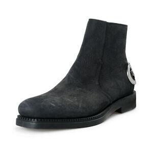 """Salvatore Ferragamo Men's """"Bankley"""" Black Nubuck Leather Ankle Boots Shoes"""