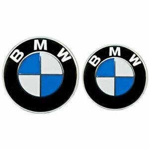 2x BMW Emblem Logo Zeichen 82mm + 74mm Motorhaube Kofferraum NEU TOP!!!