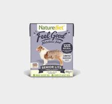 NATUREDIET SENIOR Lite Dog Food x 18 Complete Dog Food For Older Dogs FEEL GOOD
