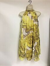 Eliza J Dress Womens Yellow Floral New York Sz 4