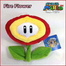 Super Mario Bros Plush Fire Flower Toy Stuffed Animal Figure Red New 7""