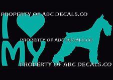 Vrs Love My Dog Standard Schnauzer Heart Puppy Adoption Car Decal Vinyl Sticker