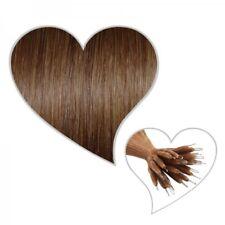 25 - strähnen Cheveux véritables 45 cm Brun Noisette #06 NANO ANNEAU statt MICRO