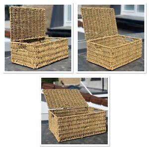 Handmade Seagrass Hamper Basket / Gift box Christmas / Bedroom Toiletry Storage