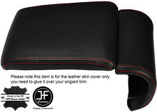 RED STITCHING LEATHER ARMREST COVER FITS ALFA ROMEO GIULIETTA 2010-2016
