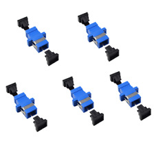 5Pcs Lot SC-SC/APC single mode Simplex Fiber Optic Adapter