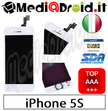 APPLE IPHONE 5S BIANCO VETRO TOUCH SCREEN DISPLAY LCD SCHERMO COMPLETO ORIGINAL