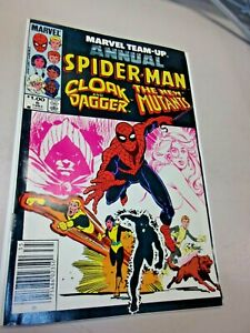 1983 Marvel Team Up Annual 6 Comic Cloak and Dagger The New Mutants Spider-man