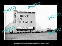 OLD 8x6 HISTORIC PHOTO OF ALTOONA PENNSYLVANIA THE DRIVE IN THEATER c1940