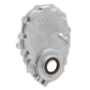 Holley Engine Timing Cover 21-152; Natural Cast Aluminum for 96-Up Chevy Vortec
