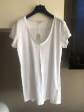 James Perse Size 3 White S/S T Retail $95
