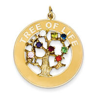 14k Yellow Gold Tree Of Life Pendant A4133