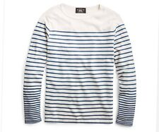 RRL Ralph Lauren Sailor Striped Indigo Cotton Jersey Henley Shirt-MEN- XL