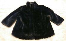 Monsoon black faux fur coat womens size 18 *excellent*
