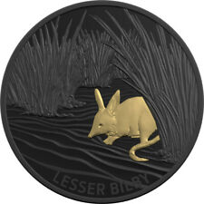 2019 $5 Echoes Of Australian Fauna - Lesser Bilby Black Silver Proof Coin