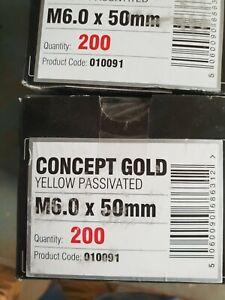 600no - 6x50mm - KTX Concept Gold Premium Yellow Pozi Wood Screws