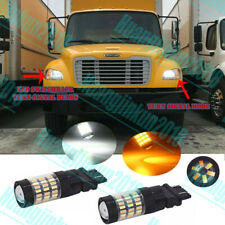 FOR 2003-2019 Freightliner M2 Switchback Turn Signal DRL Lamps White Amber 2PC
