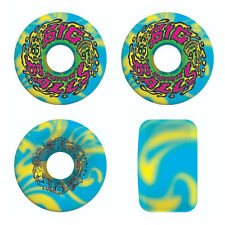 Slime Balls Skateboard Wheels 65mm Big Balls 97A Blue/Yellow Santa Cruz