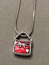 Brighton Red Enamel Purse Charm Necklace