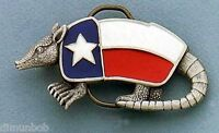 Texas Armadillo Pewter Belt Buckle